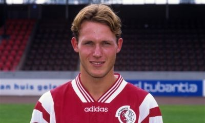 Niels Oude Kamphuis during the team presentation of FC Twente in 1996 in Enschede, The Netherlands - FC Twente - Voetbal International - 1996/1997 - Voetbal International - Dutch Eredivisie